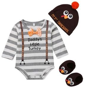 Other - Baby Boy 1st Thanksgiving Set Size 6 and 9 mo